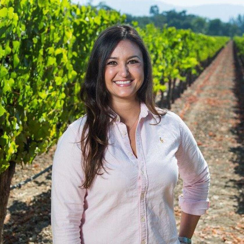 Winemaker Lauren Kopit in Vineyard