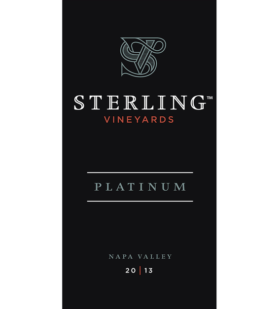 2013 Sterling Vineyards Platinum Napa Valley Cabernet Sauvignon Front Label