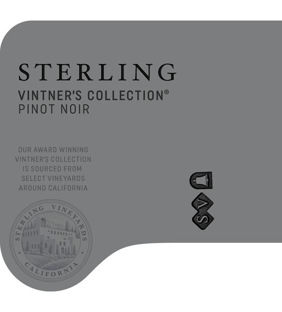2018 Sterling Vintner's Collection California Pinot Noir Front Label