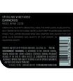 2018 Sterling Vineyards Carneros Rosé of Syrah Back Label