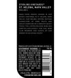 2016 Sterling Vineyards St. Helena Malbec Back Label