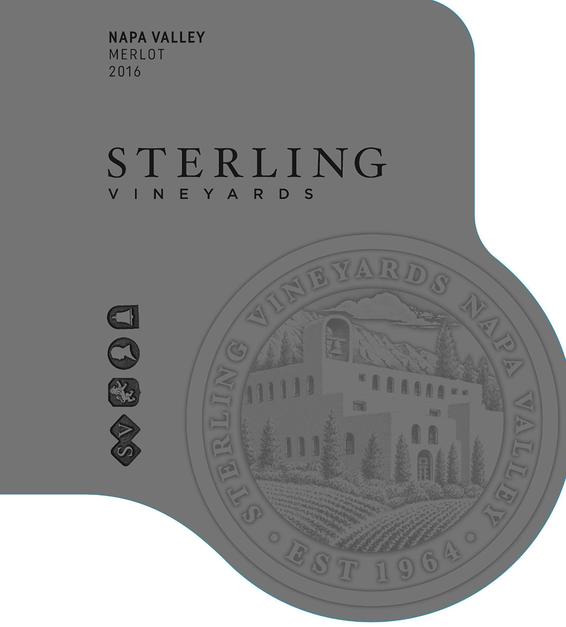 2016 Sterling Vineyards Napa Valley Merlot Front Label
