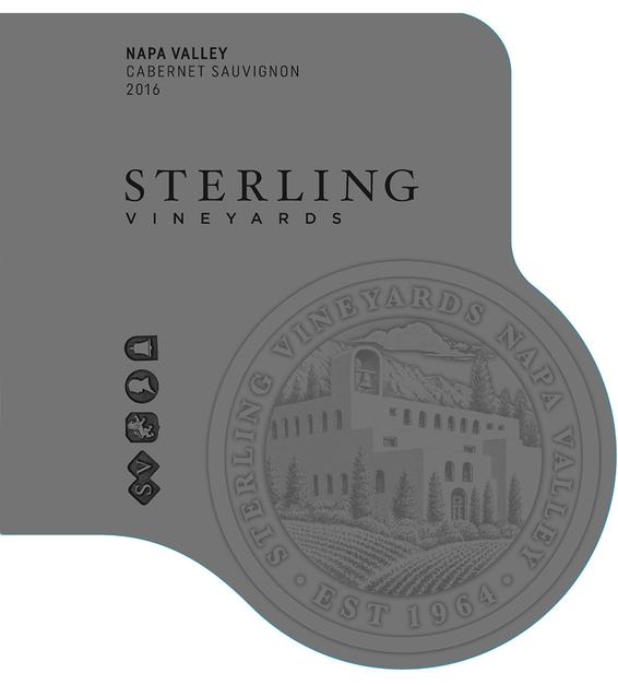 2016 Sterling Vineyards Napa Valley Cabernet Sauvignon Front Label