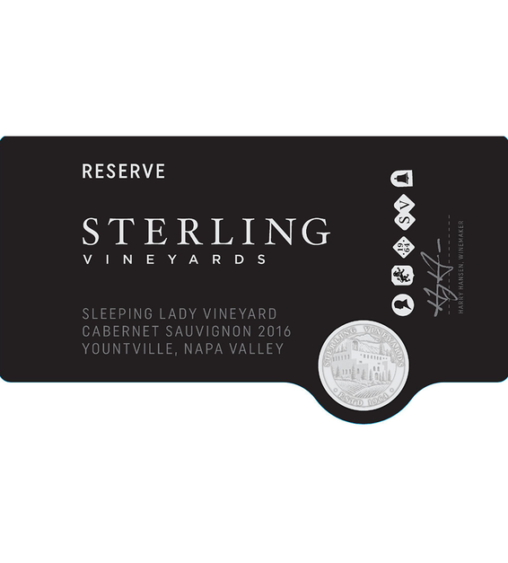 2016 Sterling Vineyards Sleeping Lady Vineyard Yountville Cabernet Sauvignon Front Label