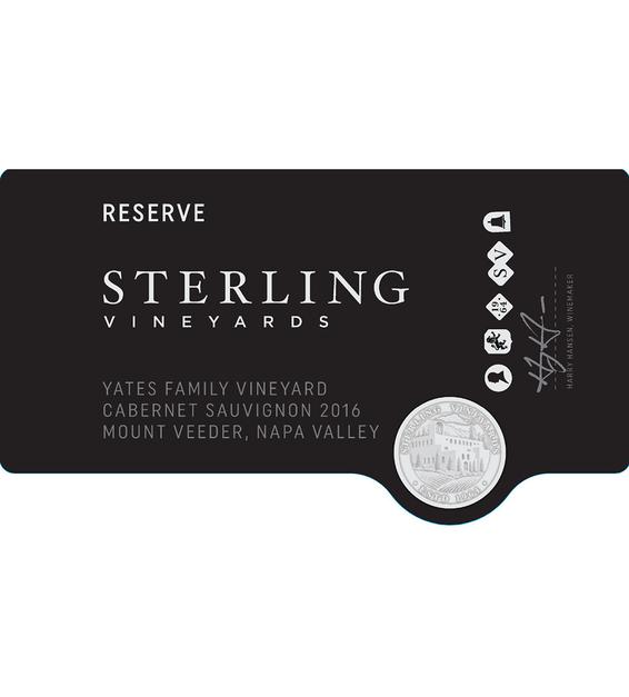 2016 Sterling Vineyards Yates Family Vineyard Mount Veeder Cabernet Sauvignon Front Label