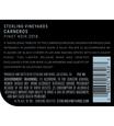 2018 Sterling Vineyards Carneros Pinot Noir Back Label, image 3