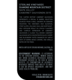 2015 Sterling Vineyards Limited Edition Diamond Mountain District Napa Valley Cabernet Sauvignon Magnum Back Label, image 2