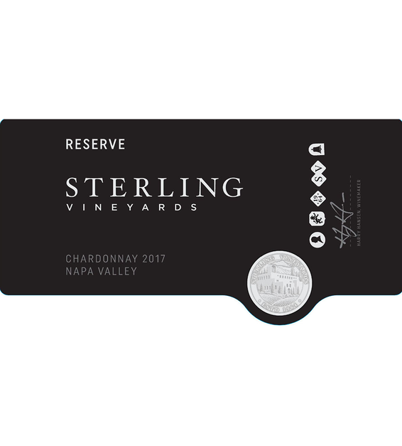 2017 Sterling Vineyards Reserve Napa Valley Chardonnay Front Label