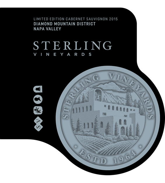2015 Sterling Vineyards Limited Edition Diamond Mountain District Napa Valley Cabernet Sauvignon Magnum Front Label