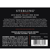 2013 Sterling Vineyards Platinum Napa Valley Cabernet Sauvignon Back Label, image 2