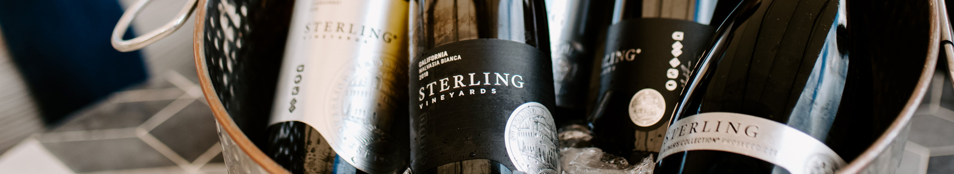 Sterling Winery Exclusives in Ice Bucket