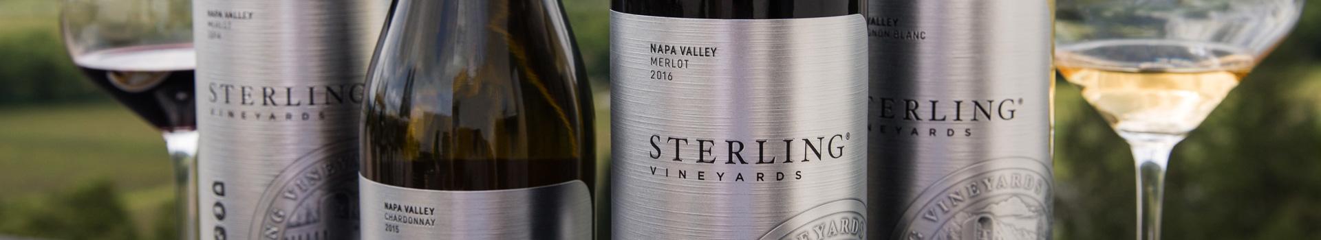 Sterling Napa Valley Wines - Merlot, Sauvignon Blanc, & Chardonnay